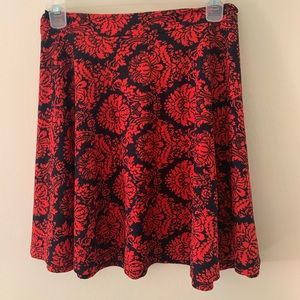 Ornate pattern fit and flare skirt